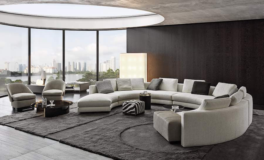 Daniels Sofa by Christophe Delcourt for Minotti - Photo by Minotti