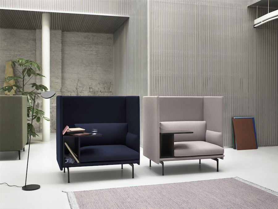 Outline highback sofas by Anderssen Voll for Muuto - Photo courtesy of Muuto