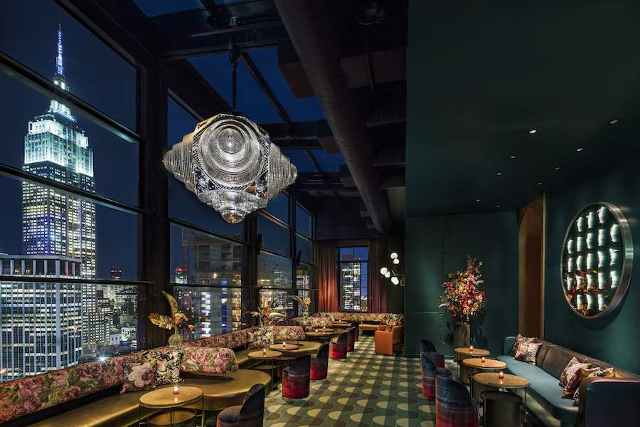 Rockwell Group's interior design @ Moxi Times Square, NYC - Photo by Micheal Kleinberg, courtesy of Rockwell Group.