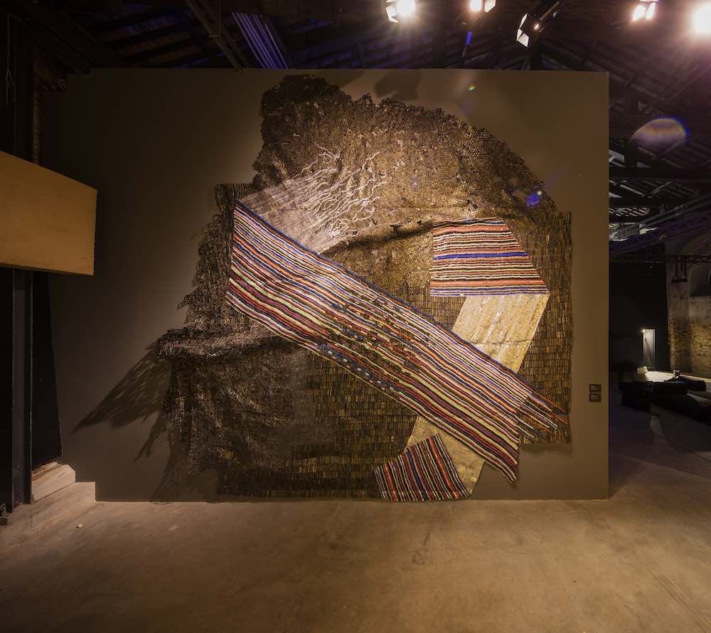 El Anatsui @ The Ghana Pavilion, Venice Biennale 2019, design by David Adjaye. All photos by David Levene. @ The Ghana Pavilion, Venice Biennale 2019, design by David Adjaye. All photos by David Levene.