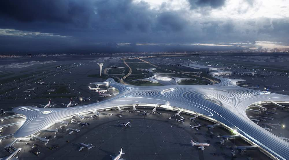 MAD Architects' proposal for Harbin Airport T3 - Image by MAD Architects.