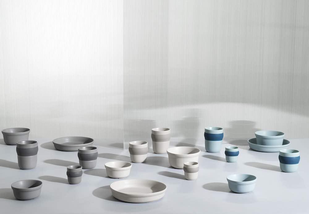 Normann Copenhagen's new ceramic tableware. Obi group - Photo by Normann Copenhagen.
