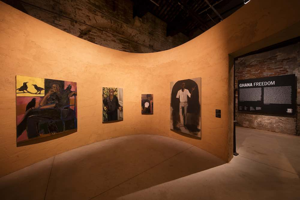 Lynette Yiadom-Boakye @ The Ghana Pavilion, Venice Biennale 2019, design by David Adjaye. All photos by David Levene. @ The Ghana Pavilion, Venice Biennale 2019, design by David Adjaye. All photos by David Levene.