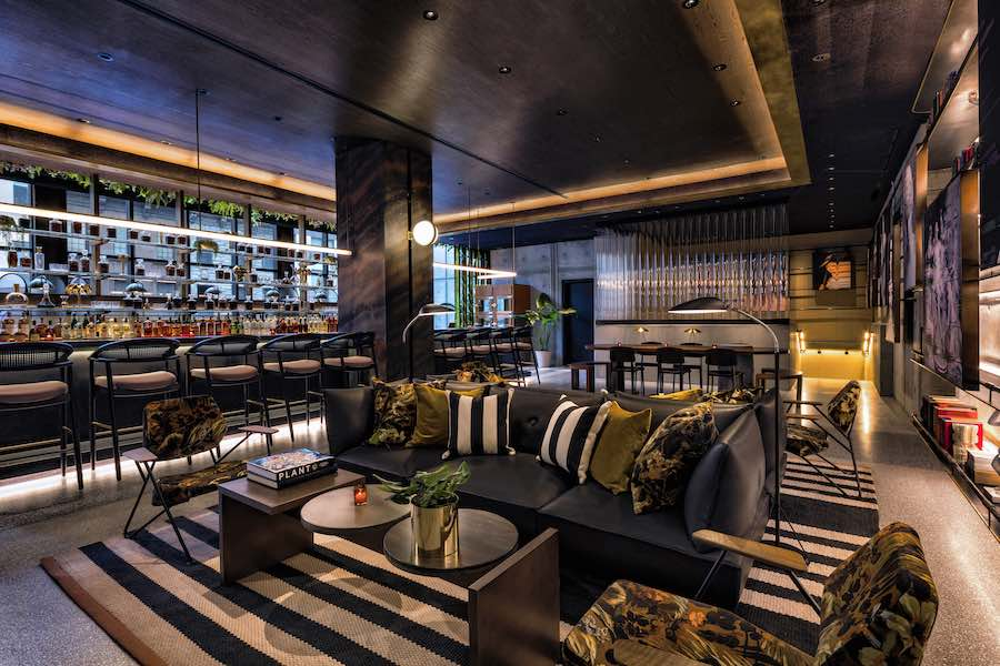 Rockwell Group's interior design for the Feroce bar @ Moxi Times Square, NYC - Photo by Micheal Kleinberg, courtesy of Rockwell Group.