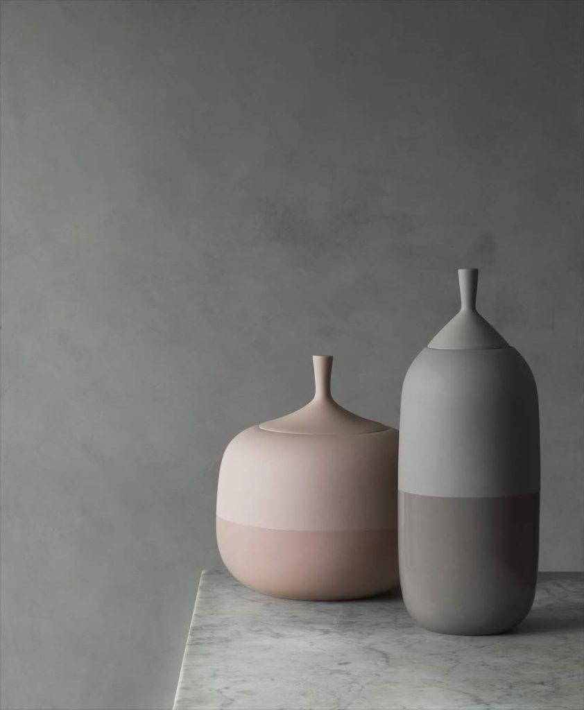 Normann Copenhagen's new ceramic tableware. Pepo jars - Photo by Normann Copenhagen.