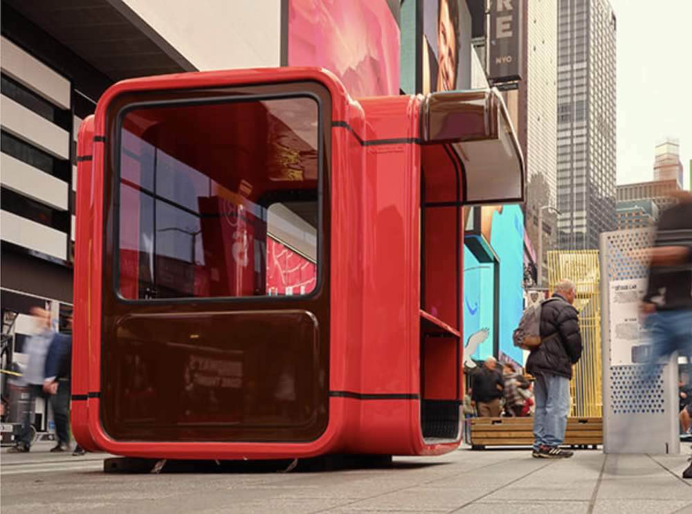Saša Mächtig's kiosk at Time Square - Courtest of 'Design Pavilion'.