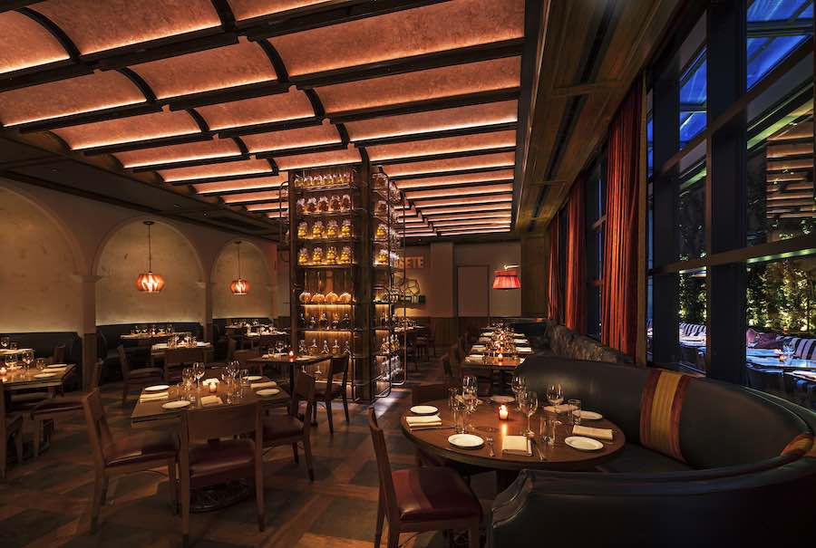 Rockwell Group's interior design for Feroce Restaurant @ Moxi Times Square, NYC - Photo by Micheal Kleinberg, courtesy of Rockwell Group.