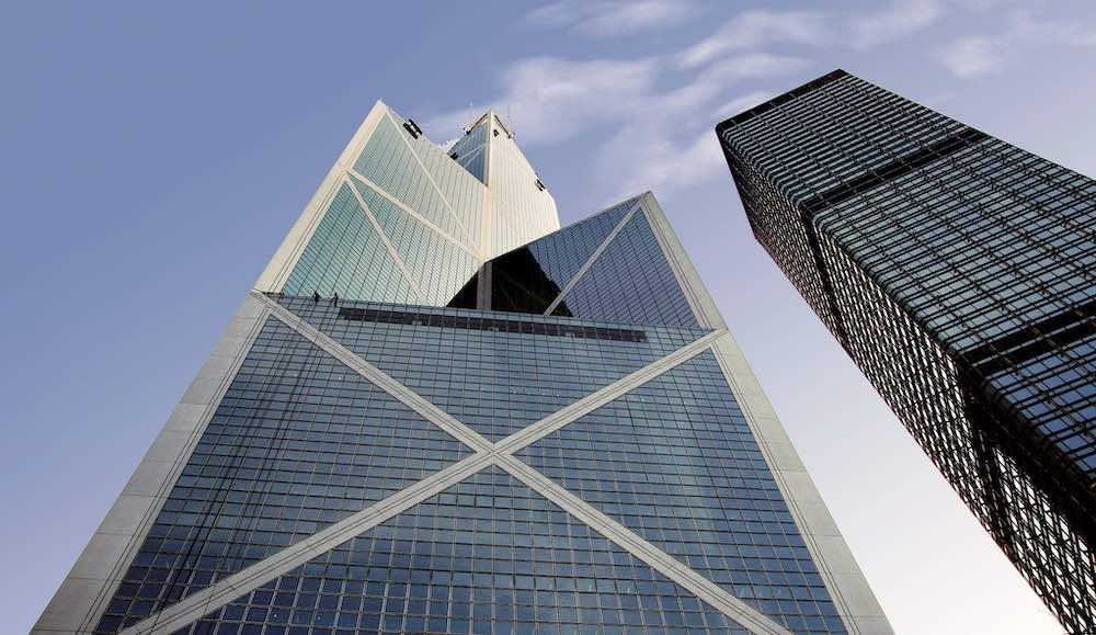 Bank of China Hong by I M Pei in Hong Kong, China - Photo by Bernard Spragg, CC.