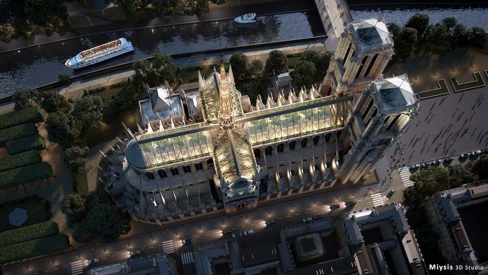 Miysis Studio Envisions Notre Dame S Roof As A Forest Open To The People