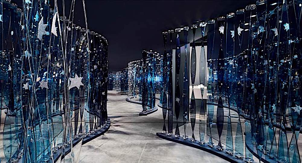 Juju Wang's installation @ Swarovski Designers of the Future Award @ DesignMiami: Basel 2019- Courtesy of Swarovski.