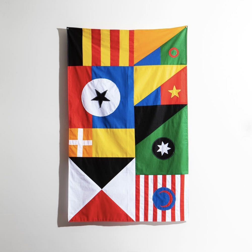 Garbett's flag design @ the CommUNITY exhibition - Courtesy of San Francisco Design Week 2019.