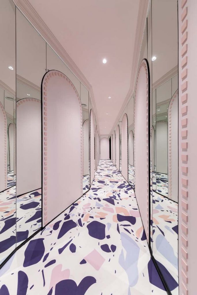 Loong Swim Club by X+Living - Hallway-Maze Mirror in the adult area