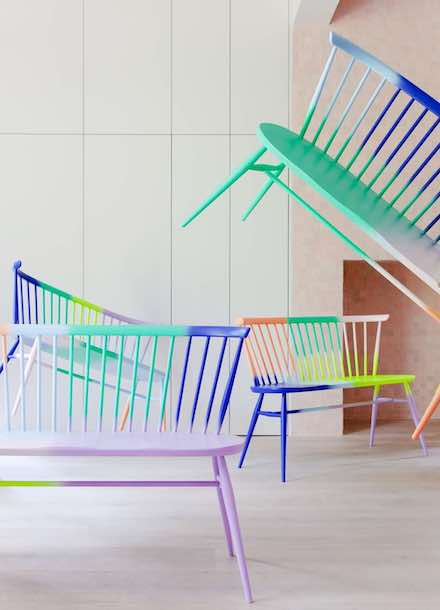 Rainbow LOVE Seat by 2LG x ercol