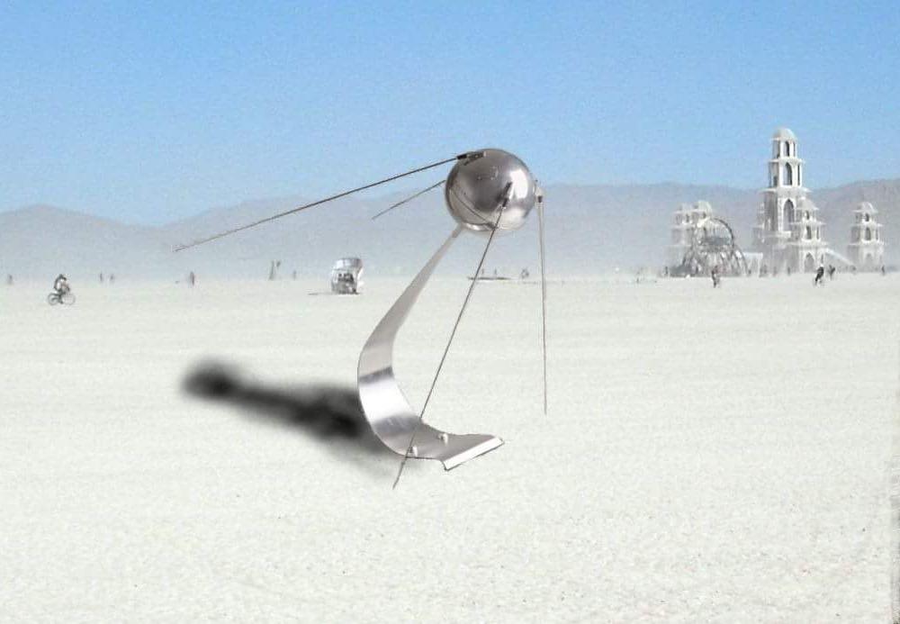 Sputnik Theremin @ Burnign Man 2019 - Image by Linda Ljungahl