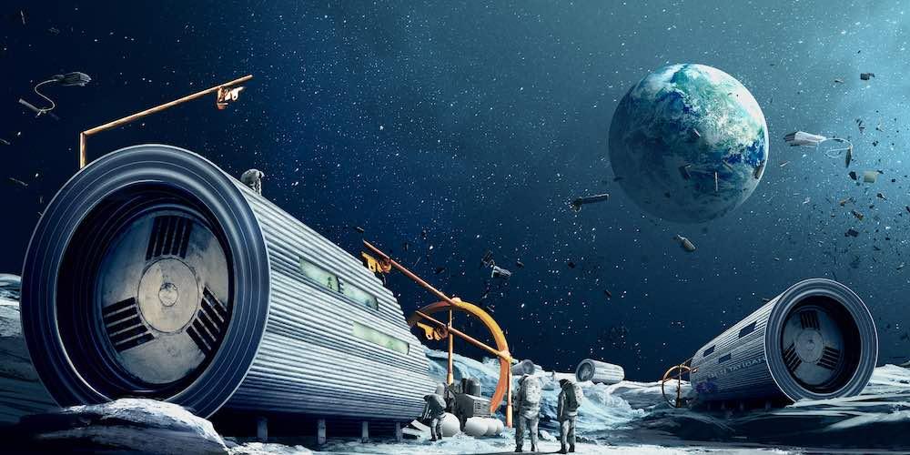 Space Waste Lab - Image by Daan Roosegaarde Design Studio