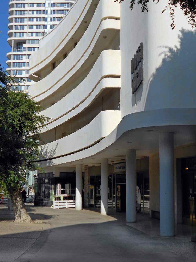 Cinema Hotel by Yehuda Magidovitch, 1939, on Dizengoff Circle, Tel Aviv - Courtesy of Bauhaus Center Tel Aviv.