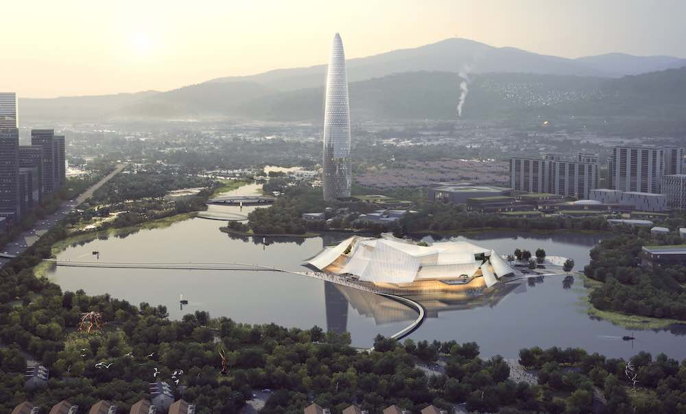 Yiwu Grand Theater by MAD Architects - Image by MAD Architects.