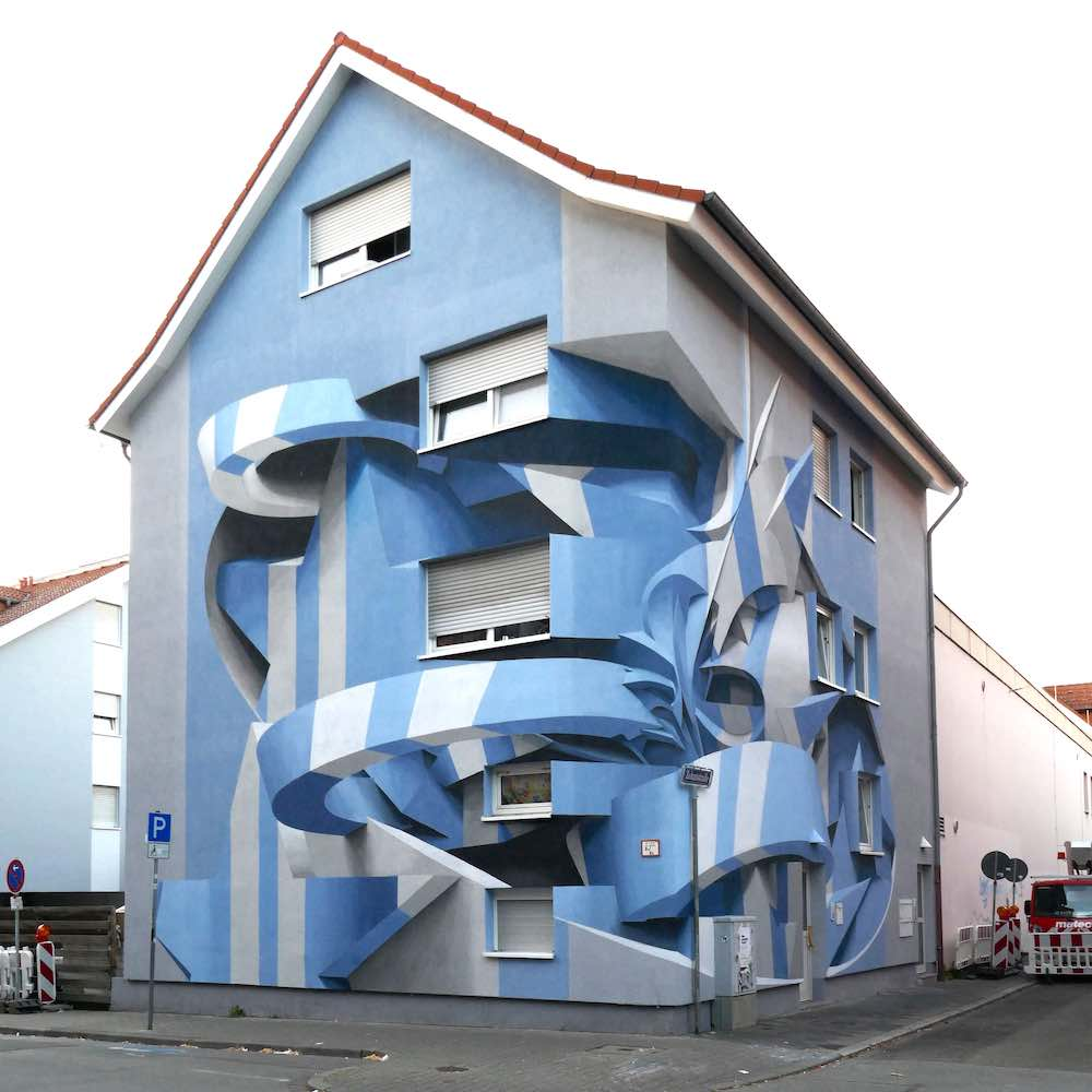 Architectural large optical murales by Peeta - Photo: xourtesy of Peeta.