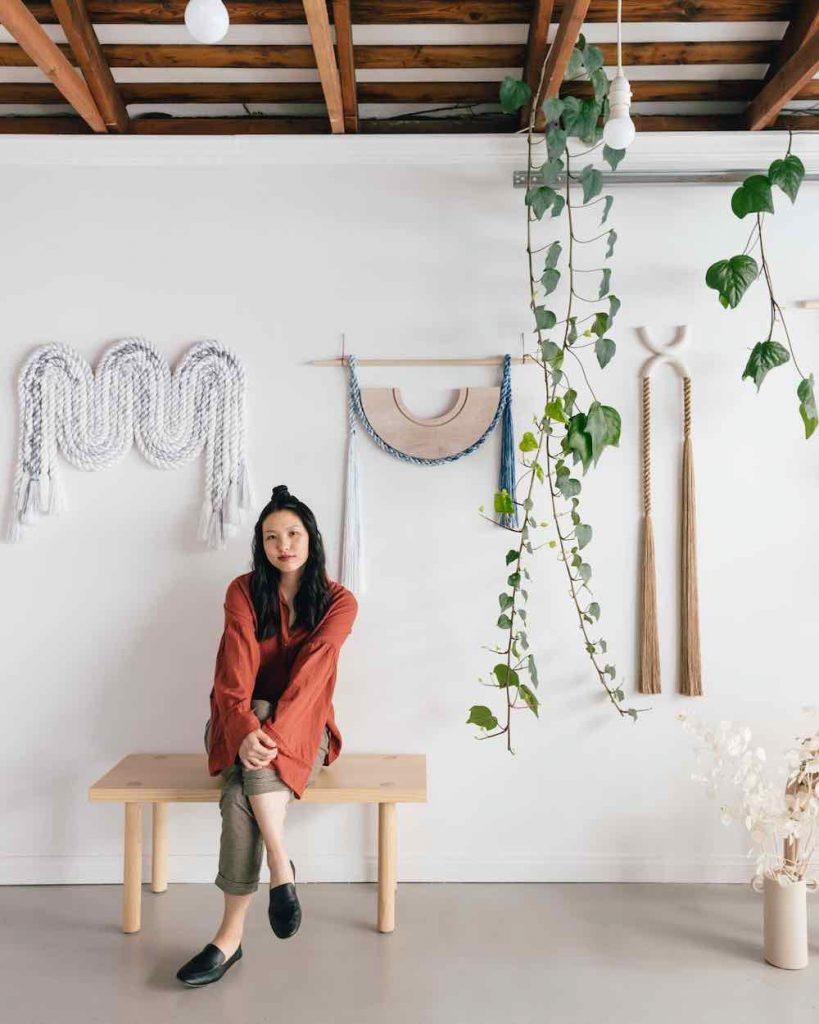 Cindy Hsu Zell in her studio - Photo: courtesy of LA Design Festival.