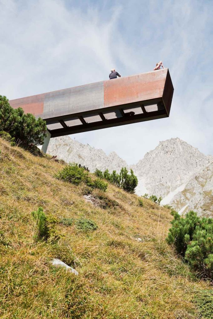 'Path of Perspectives' panorama trail by Snøhetta, Innsbruck 2019 - Photo by Christian Flatscher, courtesy of Snohetta.