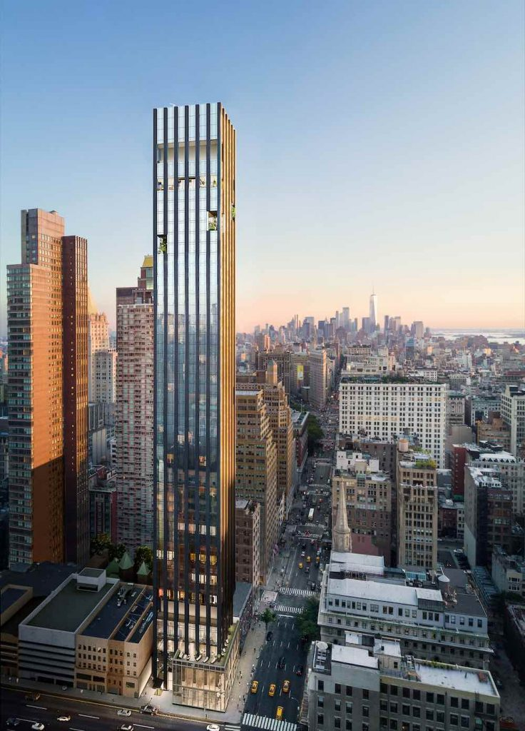 Rafael Vinoly Architects, 277 Fifth Ave residential tower - Photo by Rafael Vinoly Architects.