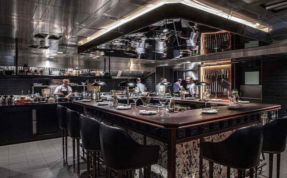 Kasai Chef's Table of Gordon Ramsay's LUCKY CAT restaurant by AfroditiKrassa in Mayfair, Lodnon - Photo by AfroditiKrassa Design Studio.