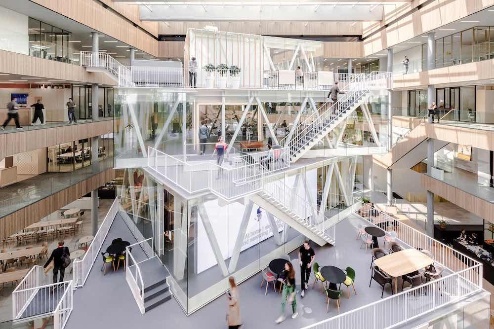 ASICS EMEA HQs by Powerhouse Company - Photography by Sebastian van Damme, courtesy of Powerhouse Company.