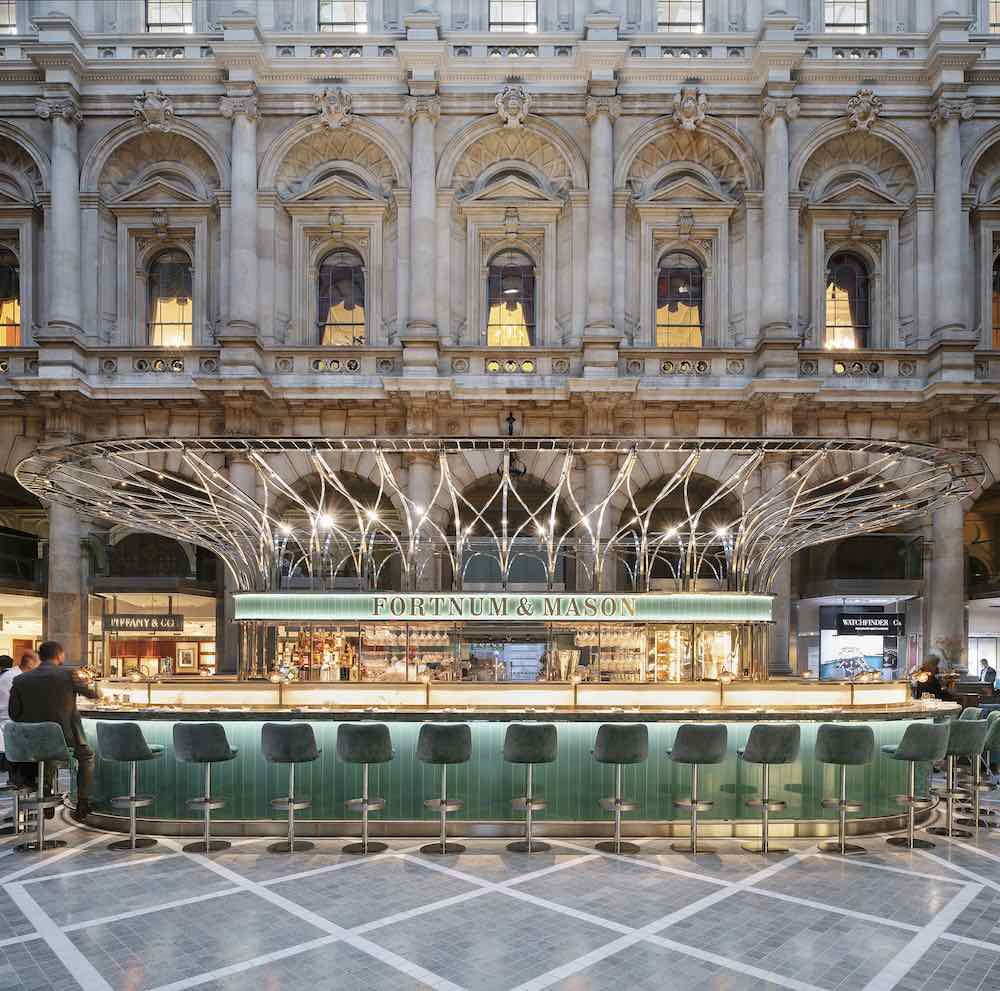 INSIDE 2019 Shortlist - The Fortnum's Bar and Restaurant at The Royal Exchange by Universal Design Studio © Andrew Meredith.