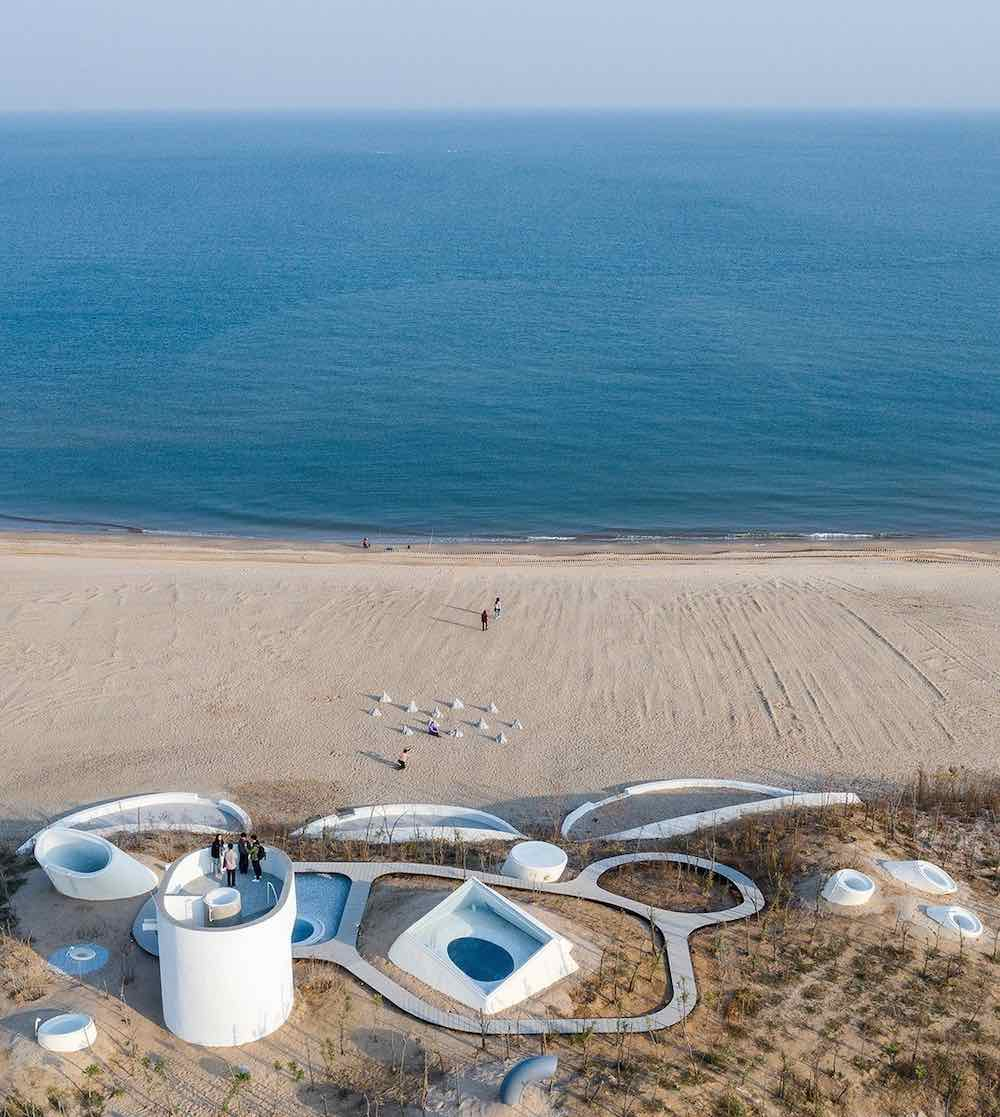 UCCA Dune Art Museum aerial view - Photo by WU Qingshan