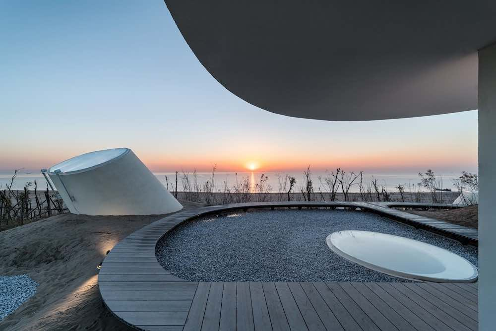 UCCA Dune Art Museum aerial view. Rooftop - Photo by WU Qingshan