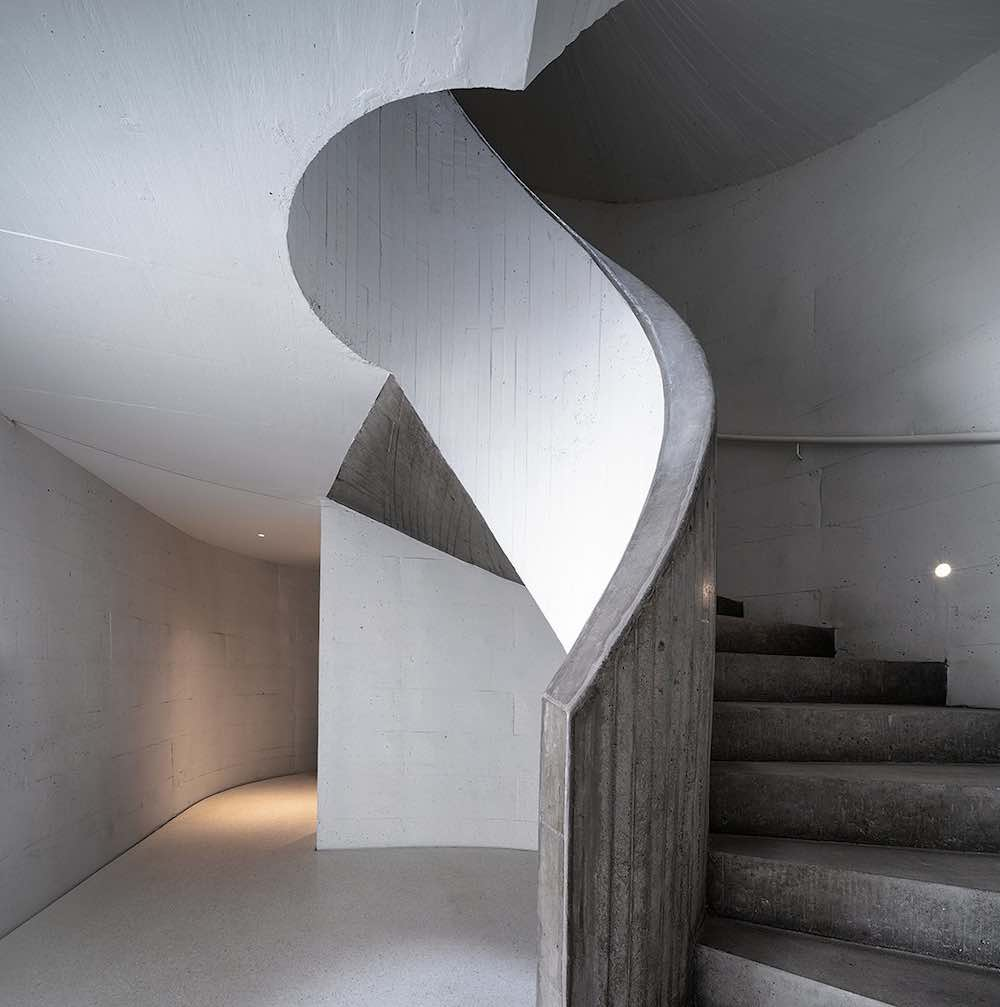 UCCA Dune Art Museum aerial view. Spiral stair case - Photo by WU Qingshan
