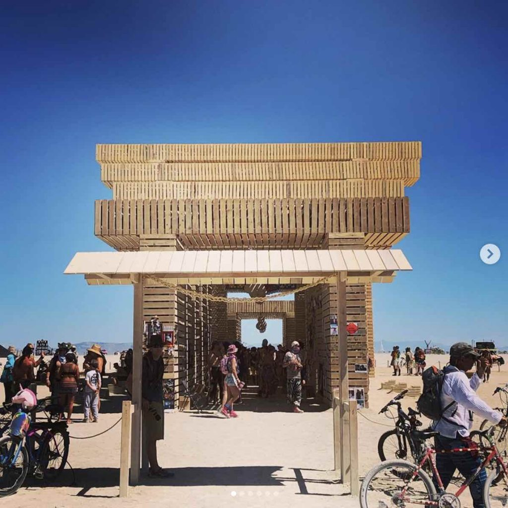 Temple of Direction @ Burning Man 2019 - Photo via IG by @kimmio22c