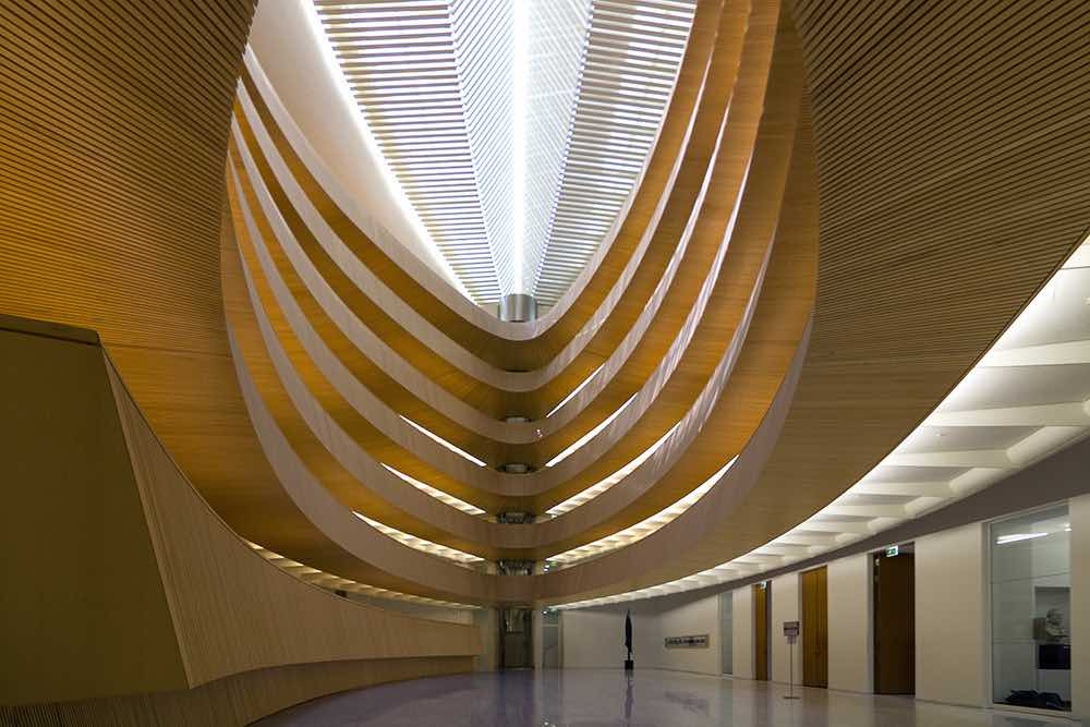 Stanitago Calatrava's Law Library - Photo by Wojtek Gurak.