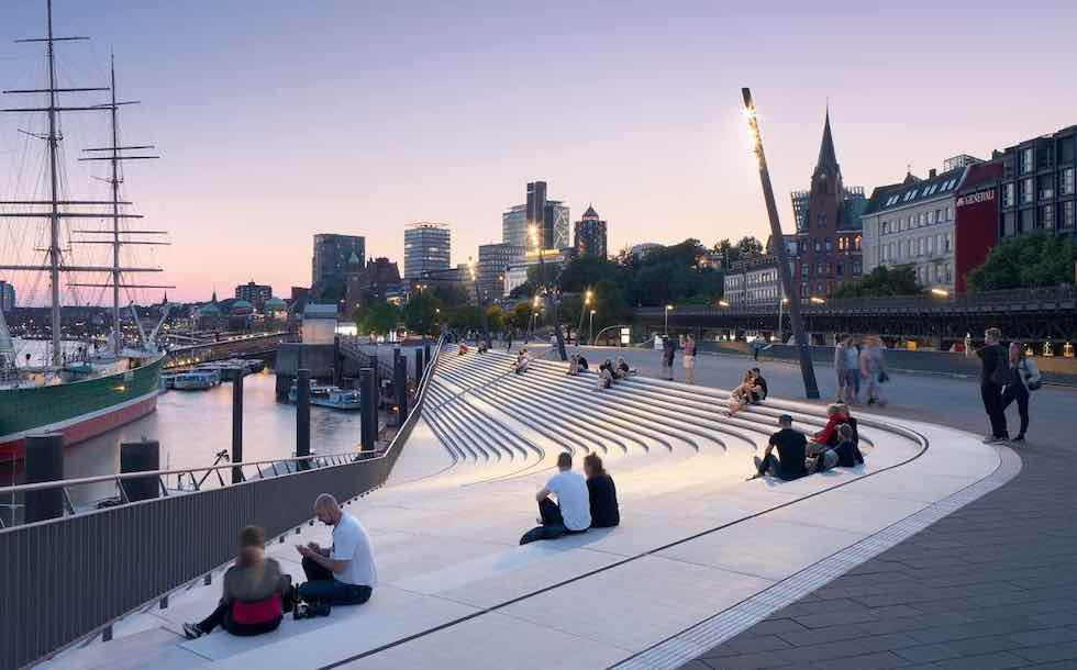 Hamburg's River Promenade by ZHA