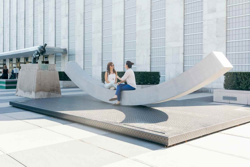 The Best Weapon bench by Snohetta - Photo by NorwayUN:Johannes W. Berg