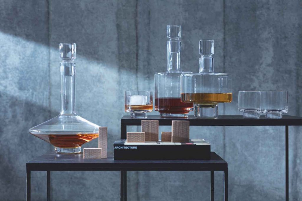 LSA's architectural glassware - Courtesy of designjunction.