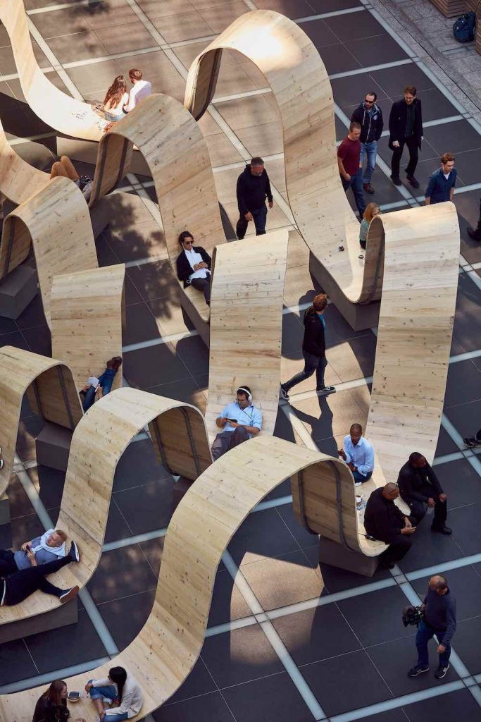 Please Be Seated by Paul Cocksedge for British Land - Courtesy of Broadgate.