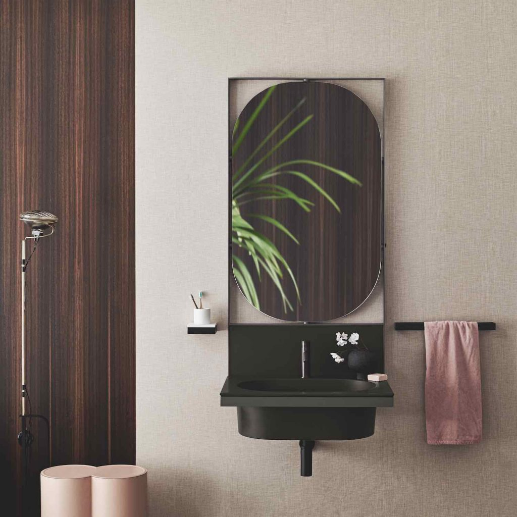 Cersaie 2019. ELLE suspended bathroom cabinet - Courtesy of Ceramica Cielo.
