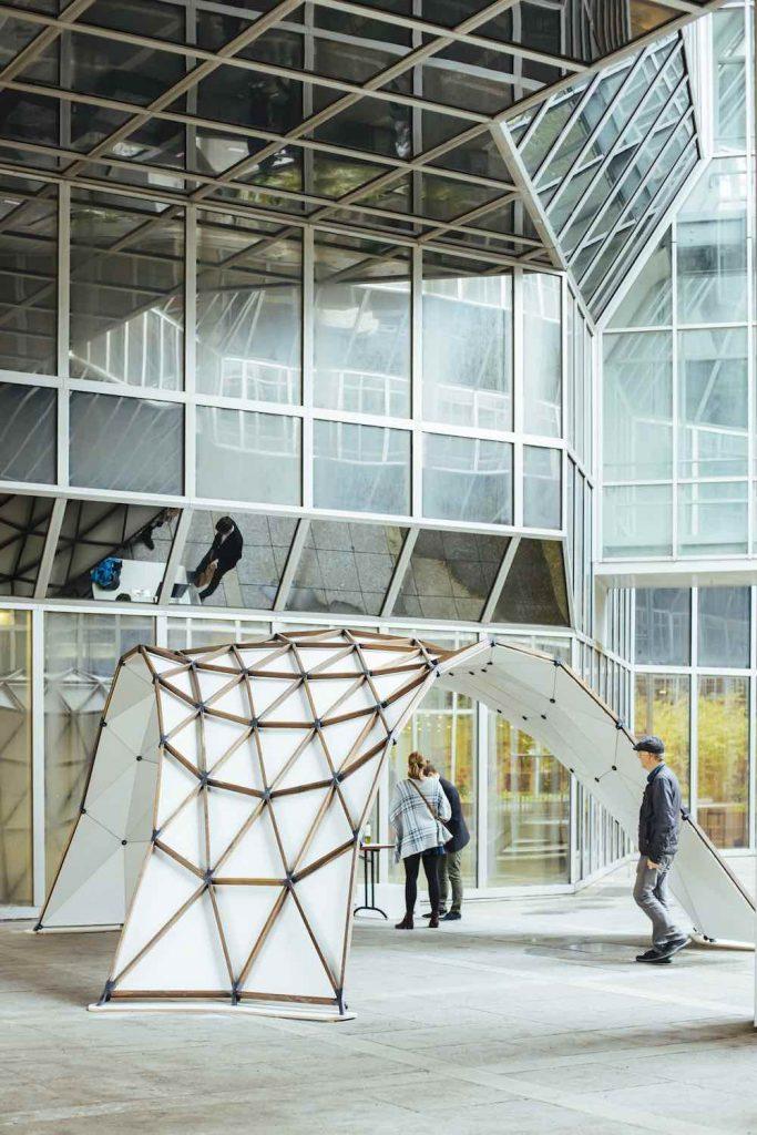 Opti-Knot-3D Pavillon - Photo: ©Kollektiv Fischka-Maria Noisternig and Vienna Design Week.