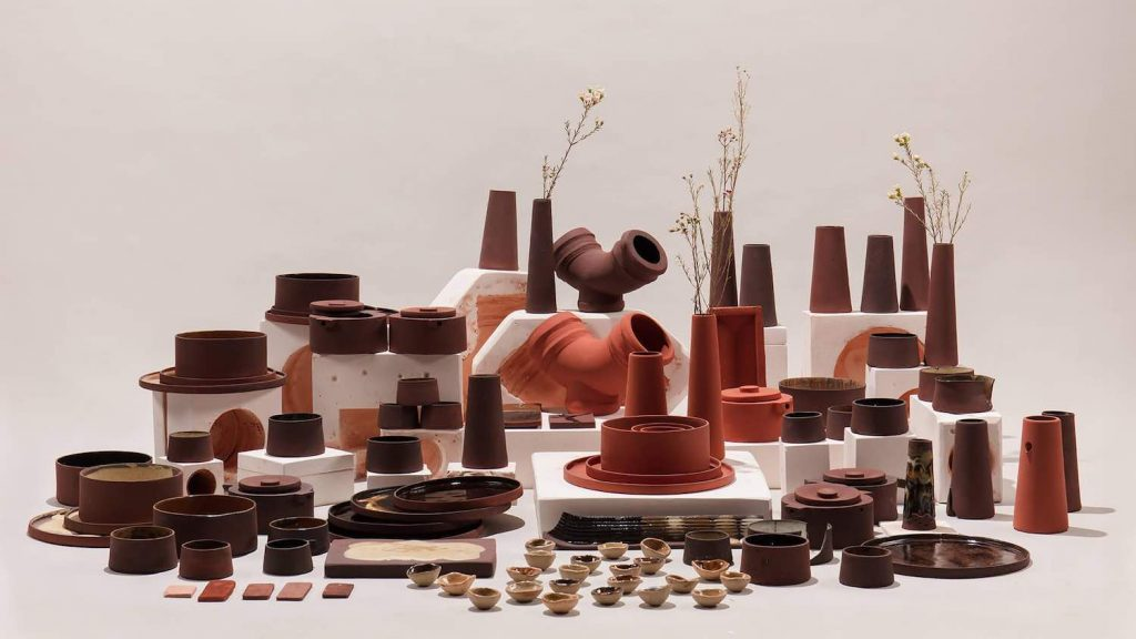 7 out-of-the-box designs at Dutch Design Week 2019 - Red Mud tableware by RCA designers