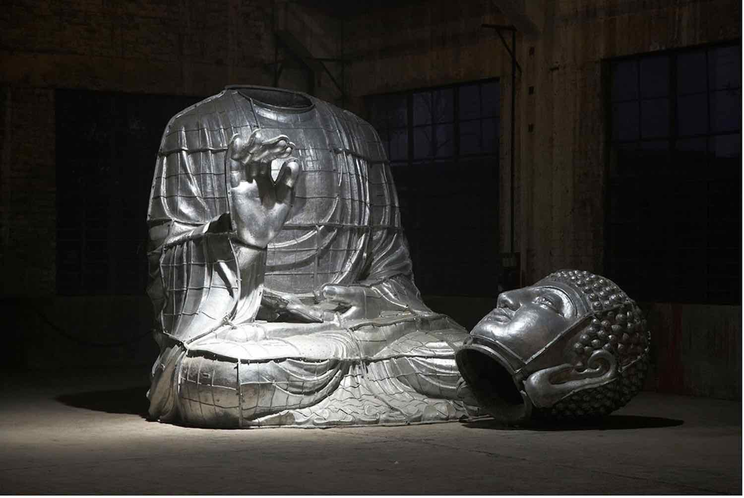 Faena Festival, THE LAST SUPPER. Miami Buddha by Zhang Huan - Photo courtesy of Faena Festival