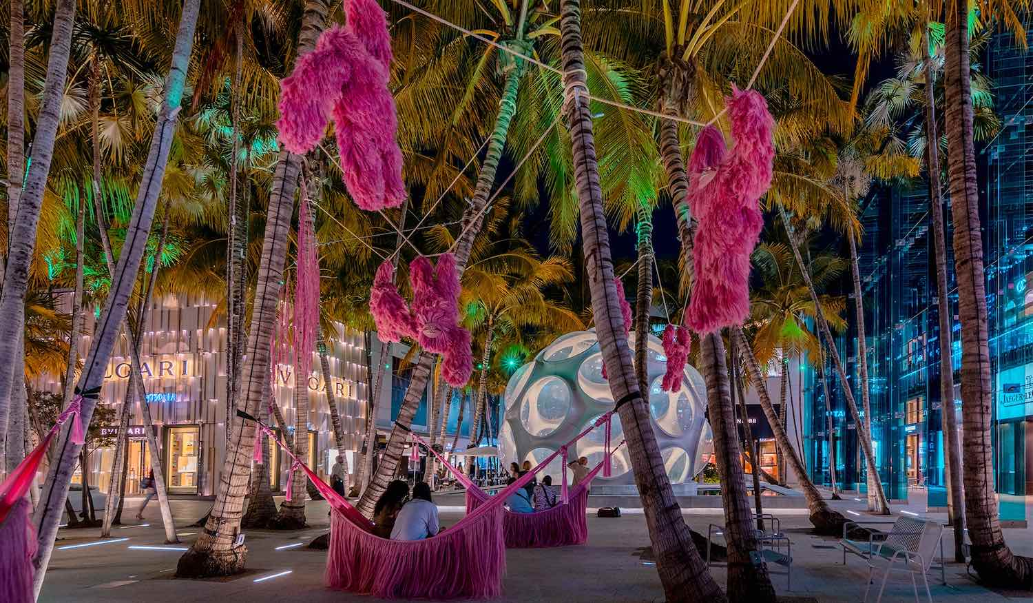 Pink Beasts by Fernando Laposse @ Miami Design District - Photo via @miami_tips on IG by @gnazzogroup.