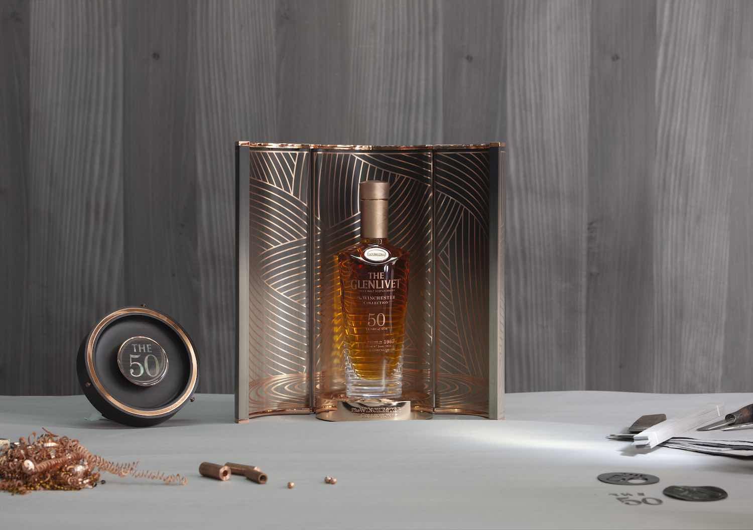 7 design bottles to find under the Christmas tree. The Glenlivet Winchester collection by Bethan Gray - Photo courtesy of The Glenlivet.