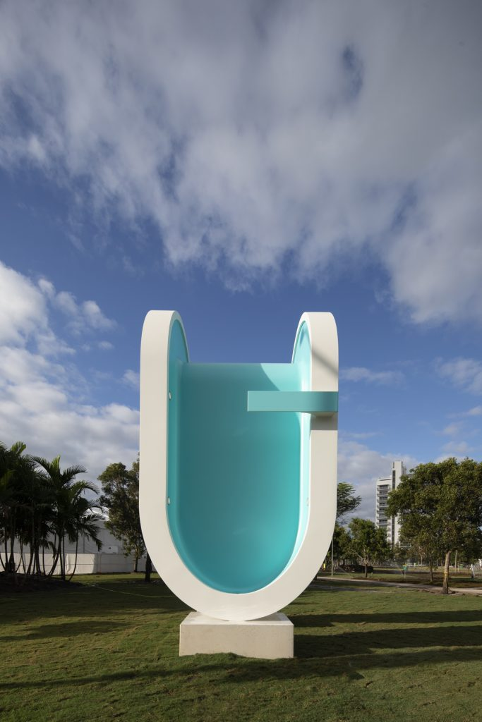 Bent Pool by Elmgreen & Dragset in Miami Pride Park - Photo by Robin Hill.