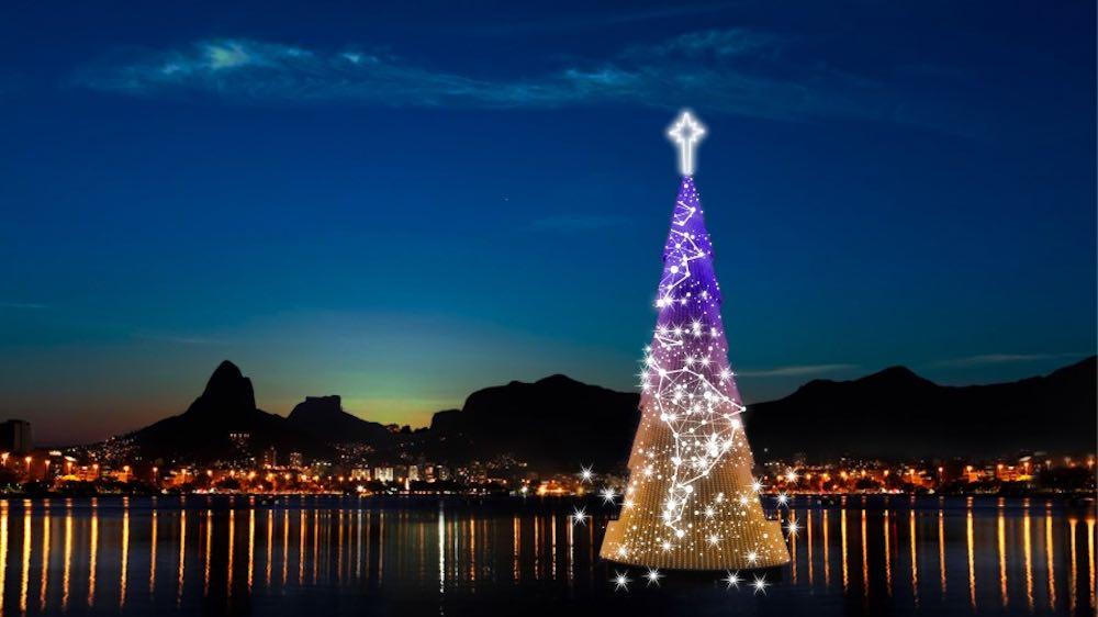 Unconventional Christmas trees - Christmas tree in Rio de Janeiro, Brazil.