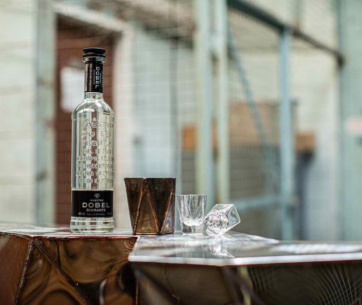 Agave-inspired handcrafted steel cup & glass by Julian Mayor x Maestro DOBEL Tequila - Courtesy of Maestro DOBEL Tequila