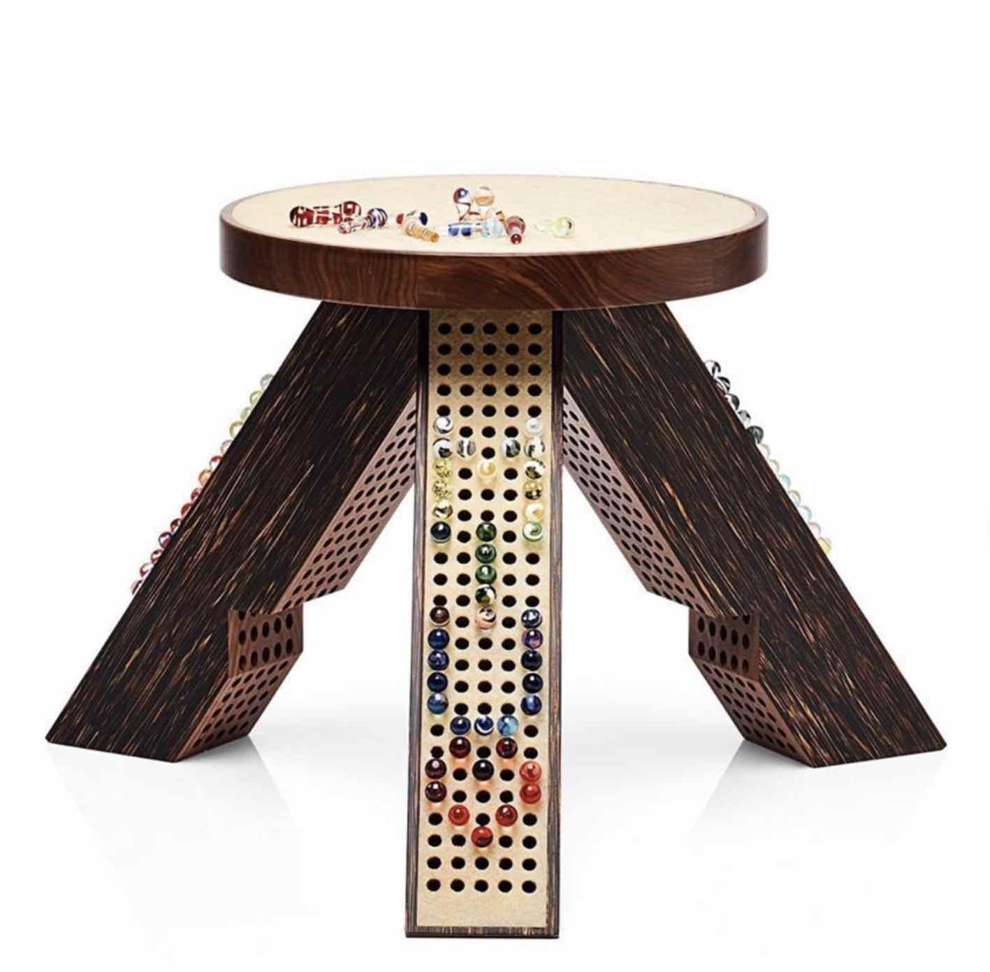 MM Marbels stool by MM Paris for Miu Miu - Photo via IG by @miumiu.
