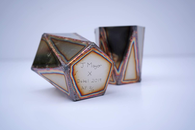 Steel cups by Julian Mayor x Maestro DOBEL Tequila - Courtesy of Maestro DOBEL Tequila.