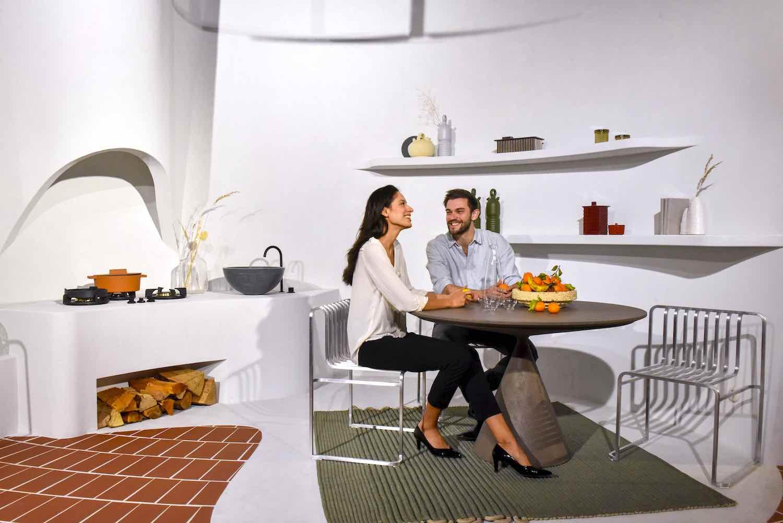 Das Haus: 'A la fresca' by MUT Studio @ Imm Cologne 2020 - Photo by Koelnmesse, IMM Cologne.