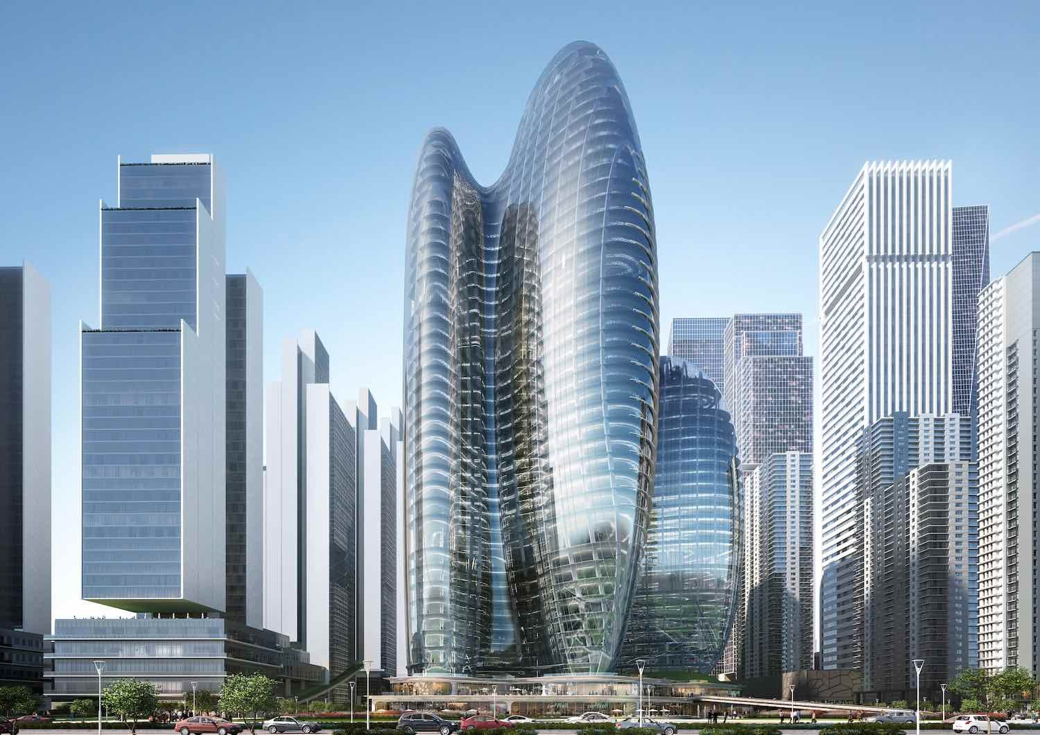 Zaha Hadid Architects' OPPO Headquarters in Shenzen - Image by Zaha Hadid Architects.